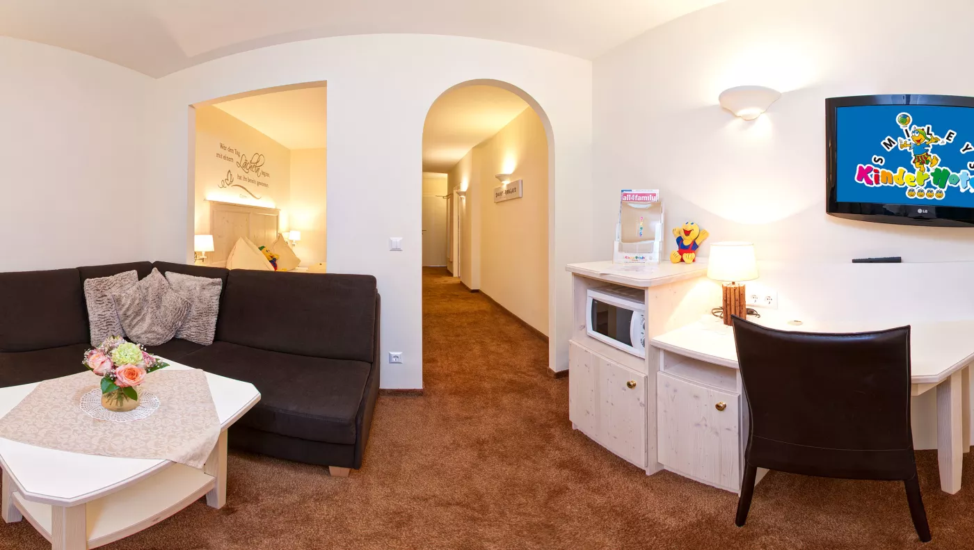 Kinderhotel Zimmer/Appartement Smiley Kuschelsuite