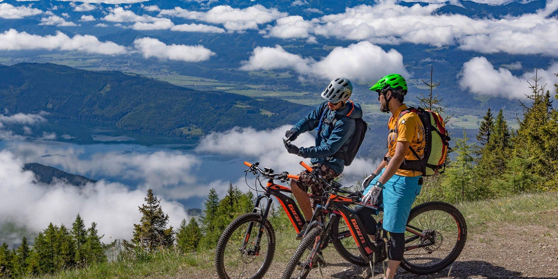 Smiley im Frühling - Mountainbiker